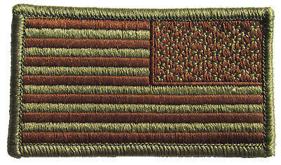 Air Force OCP Flag Spice Brown with Hook Backing for USAF - REVERSE U.S. Flag