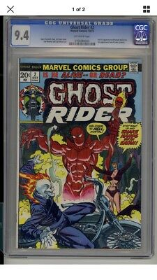 Ghost Rider #2 CGC 9.4 1st Full Appearance Damion Hellstrom and Son Of Satan App