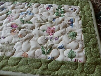 Sale Table runner longarm quilted with Longaberger Botanical fields fabric