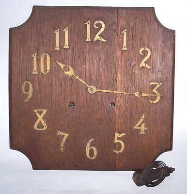 Vintage Mission Oak Clock Dial and Movement, Not Running