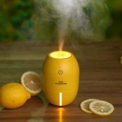 180ml USB Citrus LED Aroma Humidifier Aromatherapy Essential Oil Diffuser Yellow