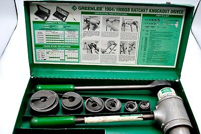 "Greenlee 1904 1906SB High Leverage Ratchet  knockout punch 1/2"" - 2"" slug buster"