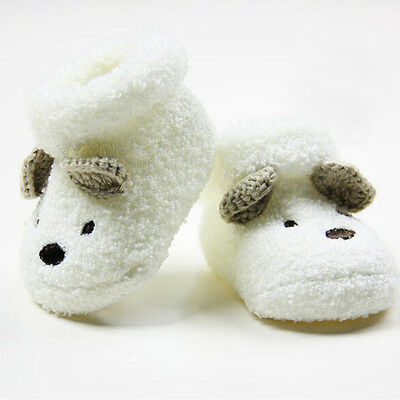 Cute Newborn Baby Boy Girls Socks Infant Cute Bear Crib Warm Shoes Socks FU