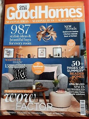 Good Homes Magazine June 2017 Perfect Condition