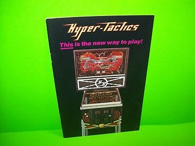 Williams HYPERBALL Hyper-Tactics NOS Original Pinball Machine Flyer Brochure
