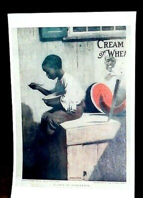 Cream Of Wheat Advertisement 1909 A Case Of Desertion Watermelon Reprint