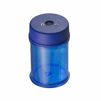 Officemate Achieva Barrel Pencil Sharpener with Metal Cutter, Blue (30249)