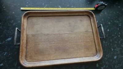 Antique Oak Butlers/Serving Tray Cast Iron Handles. Made In London