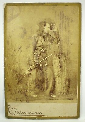 Vintage Cabinet Photo ~ WILD HARRY ~ Indian Scout, Western Guide, Champion Shot