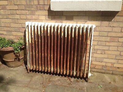 "cast iron radiator - 20 panel, c45"" long, c37.5"" high. Was working well in situ"