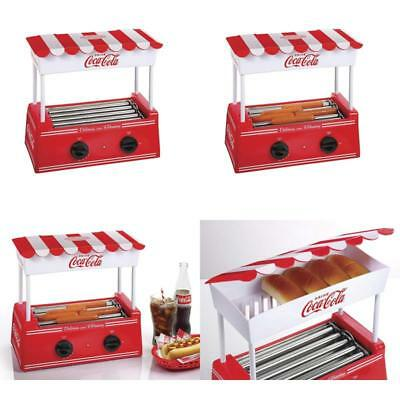 Hot Dog Roller Grill Bun Warmer Food Electric Machine Rotating Hot Dog Cooker