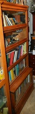 Globe Wernicke 5 sections Antique quarter sawn Oak Lawyers Bookcase
