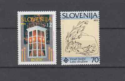 Slovenia 1995 Christmas Complete Set Mint Never Hinged