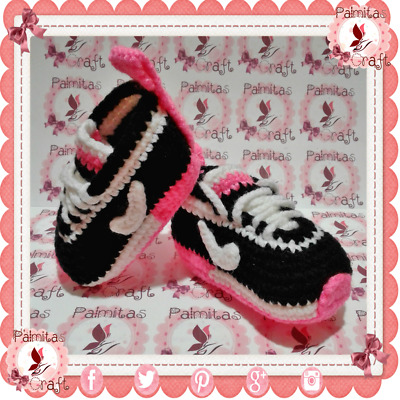 NEW Tennis NIKE Baby sneakers shoes slippers PINK crochet girls and boys USA
