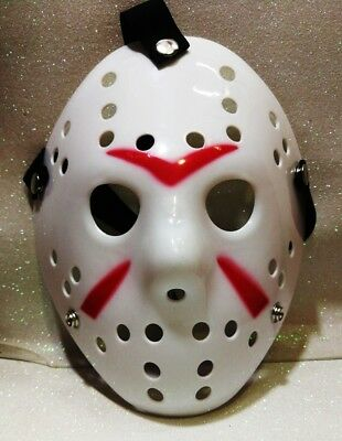 CARNEVALE HALLOWEEN MASCHERA JASON VENERDì 13TH FRIDAY COSPLAY WHITE HIGH QUALIT