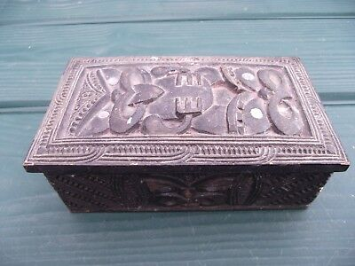 Australasian or Oceanic Carved Wooden Box New Zealand Maori?