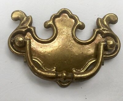 "Vintage Brass Antique Hardware Chippendale drawer pull handle...3"" center mount"