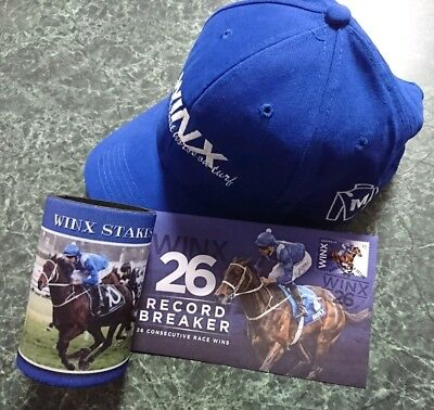 Winx Cap And Winx Stakes Stubby Holder And Free Winx First Day Cover