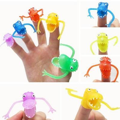 10Pcs/Pack For Kids Baby Gift Cute Multi-color Mini Dinosaur Finger Puppets Toys