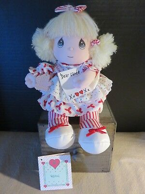 "Vintage PRECIOUS MOMENTS Musical & Movable Doll ""ANNALISE"" 1990 Christmas"