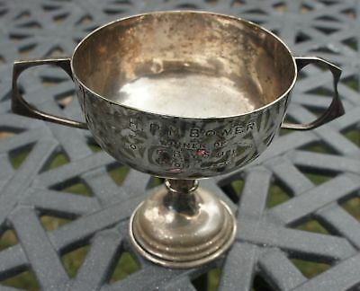 ANTIQUE SILVER PLATE 1925 ETON SCHOOL boys ROWING CUP WINNER H.P.M. BOWER