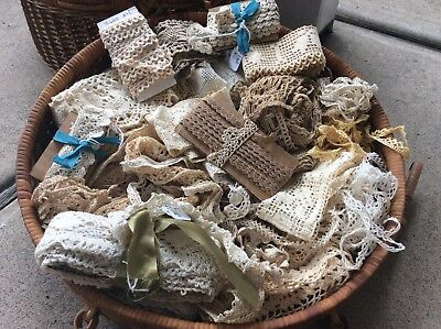 antique vintage lace lot