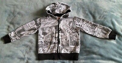Boys Marvel Spiderman Hooded Jacket By Peacocks Age 4 Years In Great Condition