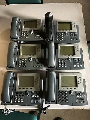 6 Cisco 7961 Unified IP Phones CP-7961G VoIP Device Business Phone Handset