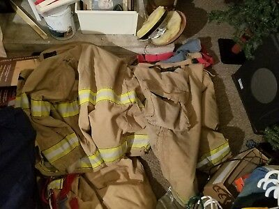 Firefighter Insulated Jacket & Pants Set Bunker Turn Out Gear Globe