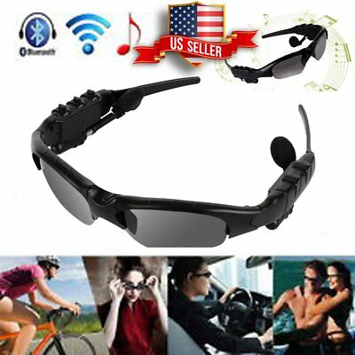 Bluetooth Smart Sunglasses Glasses Headphone Headset Mic for iPhone 8 X Samsung