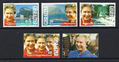 Gibraltar 1992 Anniversary of Queen's Accession - MNH set - Cat £3.65 - (42)
