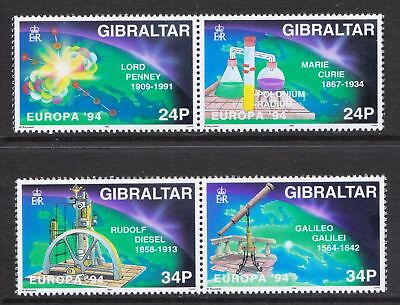 Gibraltar 1994 Europa. Scientific Discoveries - MNH Set - Cat £4.50 - (54)