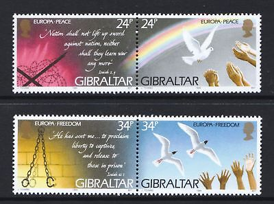 Gibraltar 1995 Europa. Peace and Freedom - MNH Set - Cat £6 - (64)