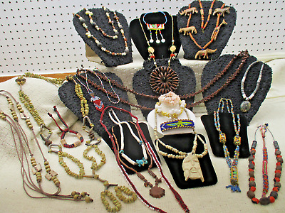 Vtg To Modern Huge 20 Pc Assorted Mixed Estate Tribal Native Jewelry Lot Lb T1