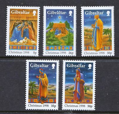 Gibraltar 1998 Christmas Issue - MNH Set - Cat £6.15 - (76)