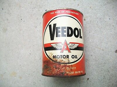 Antique Vintage RARE Nice Quart Of Veedol Premium Quality Motor Oil 20W.