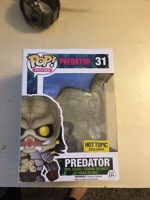 Funk Pop! Predator #31 Hot Topic Exclusive--Clear & Bloody
