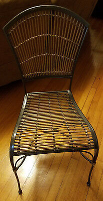 Cast Iron bamboo bistro chairs (Set of 2)