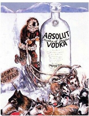 "Absolut 26"" x 40"" ALASKA Statehood Lithograph Printer's Proof Private Collection"