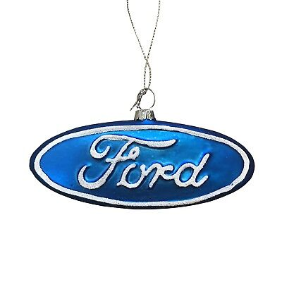 Ford Logo Official Licensed Car Motors Collector's Christmas Holiday Ornament