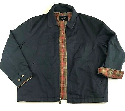 Jos. A. Bank Mens Size XL Black Traditional Fit Jacket Red Green Plaid Lining