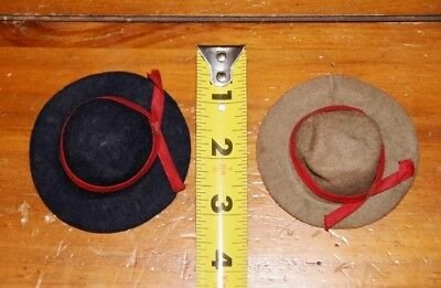 Lot of Two Antique/Vintage Hats for Antique Bisque Dolls or Others