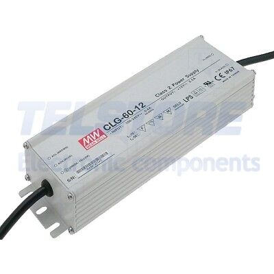 1pcs CLG-60-12 Alimentatore switching per diodi LED 60W 12VDC 11,5÷13VDC 5A MEAN
