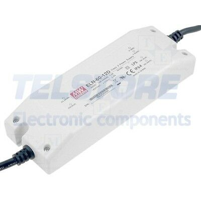 1pcs ELN-60-12D Alimentatore switching per diodi LED 60W 12VDC 5A 90÷264VAC MEAN