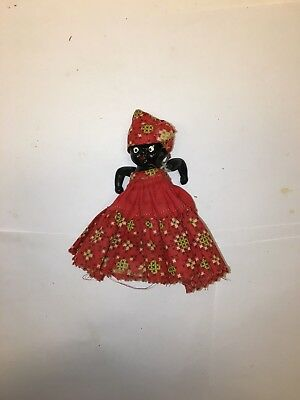Vintage Black Americana Bisque Doll - Made in Japan - Free Shipping