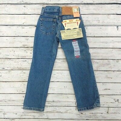 Vintage Boy's Levi's 501 Jeans NOS Size 6 with Tags 90's Blue Jean Denim Unworn