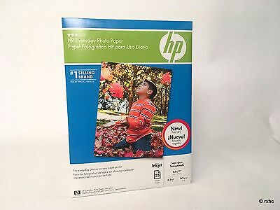 HP Everyday Photo Paper Semi-Gloss 25 sheets 8.5 x 11-inch Q5498A NEW