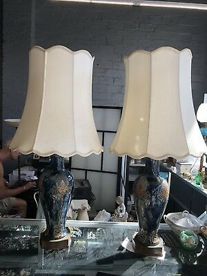 "Pair of Rare Antique Art & Crafts Royal Doulton ""THISTLE"" Lamps"