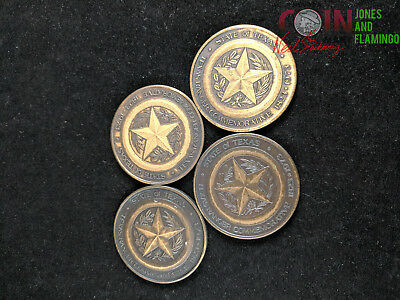 Lot Of 4 Texan Rangers 1973 Sesquicentennial Medals - Very Nice Condition! #5933