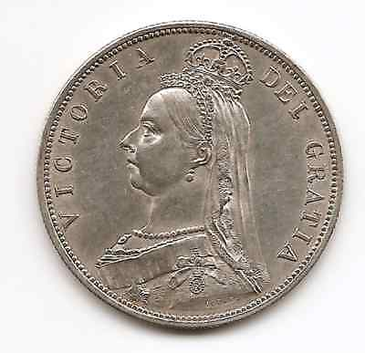 Great Britain 1887 Queen Victoria Half Crown